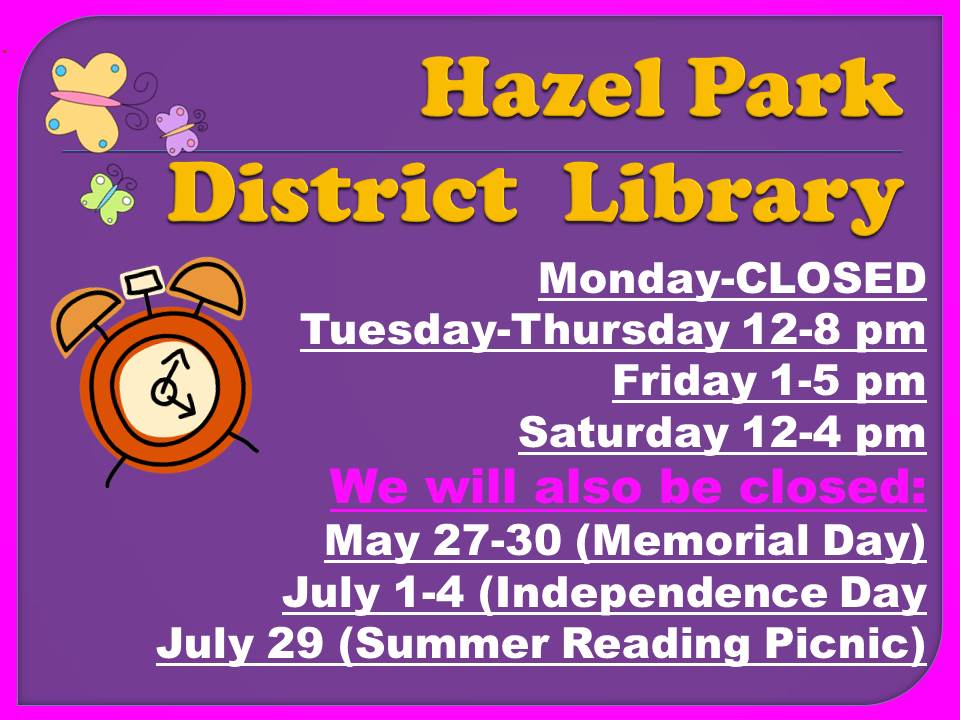 JPEG   NEW SUMMER LIBRARY HOURS AND CLOSINGS SU,MMER 2016