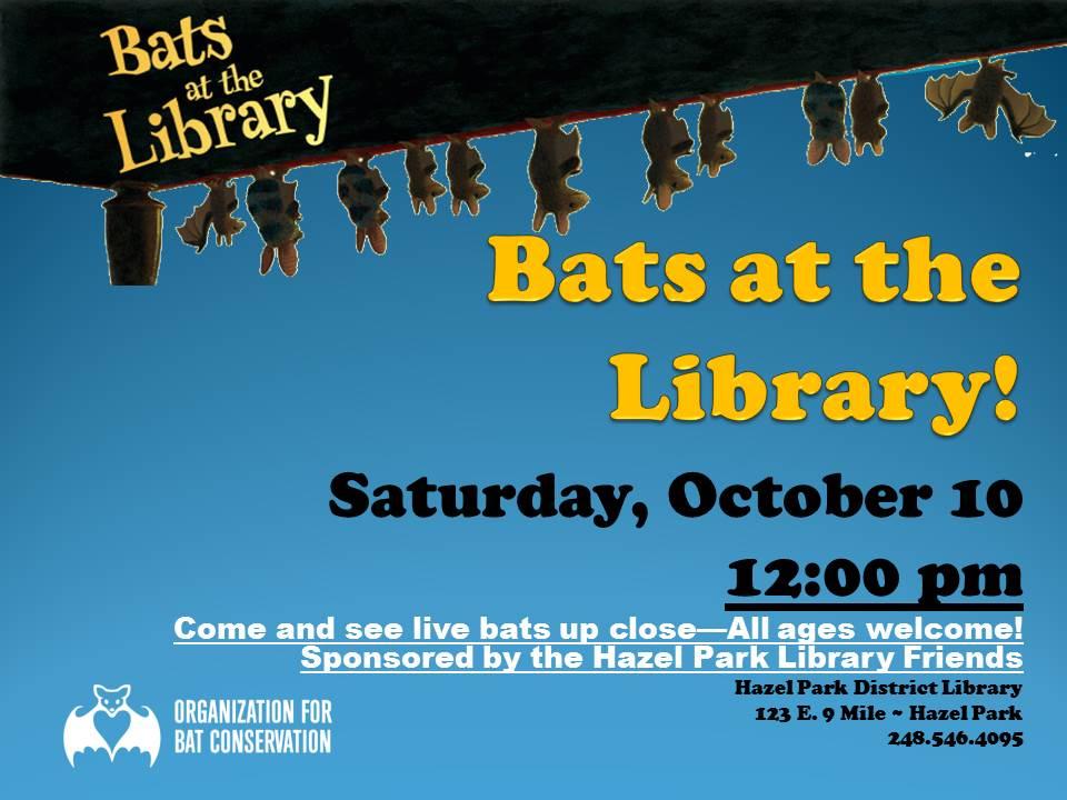 JPEG  bats at the library